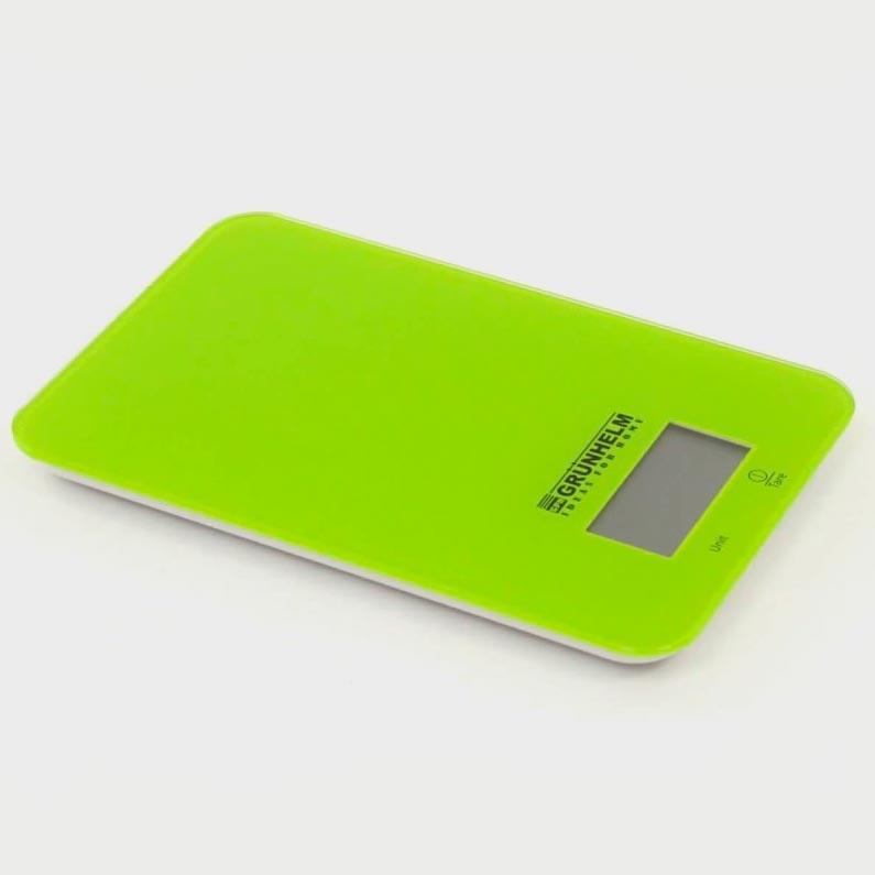 Весы кухонные (лайм) до 5 кг, Grunhelm KES-1RL (59732)