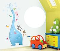 Детская наклейка-ростомер на стену Слоник AY9020