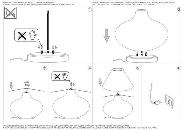 Настольная лампа Ideal Lux Aladino TL3 Bianco (137285), фото 2