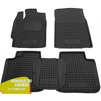 Резиновые коврики в салон Toyota Camry 55 тойота камри 55 2011- (Avto-Gumm) Автогум гумові килимки