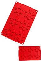 Коврик текстурный для гибкого айсинга и шоколада Цветы 28,5 см 18,5 см