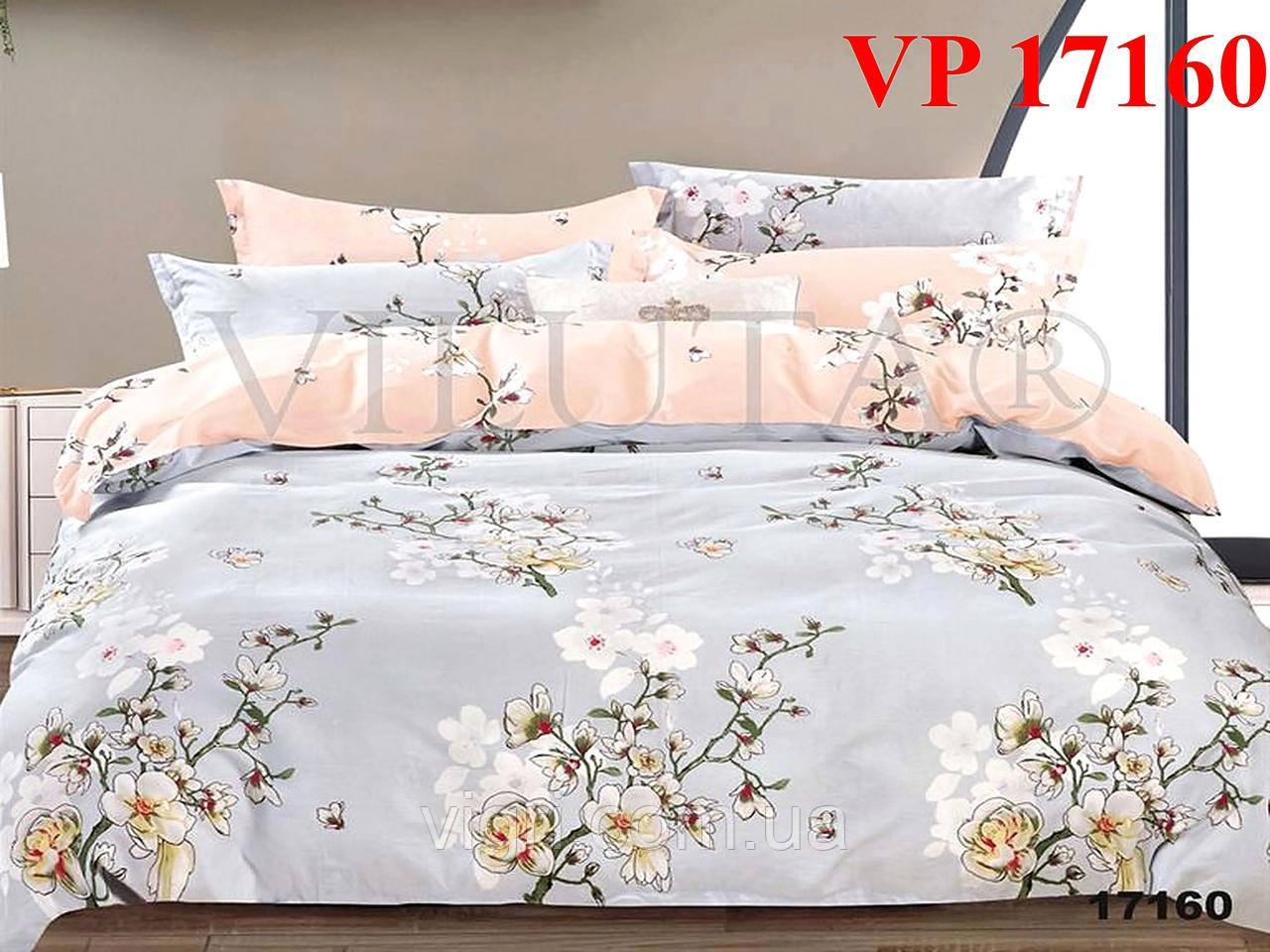 Постельное белье, двухспальное, ранфорс Вилюта «VILUTA» VР 17160