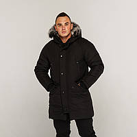 Зимняя мужская парка куртка черная Беленус (Belenos) от бренда ТУР