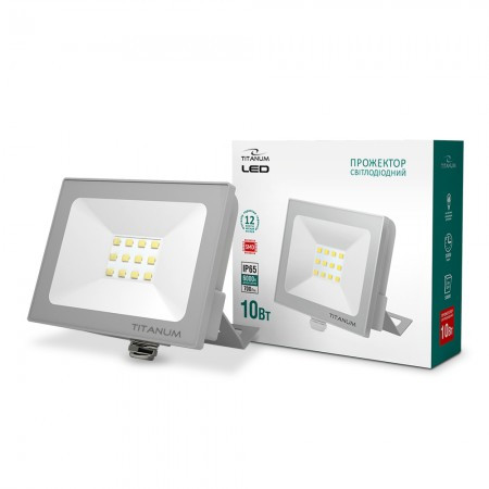 LED прожектор TITANUM 10W 6000K TLF106 220V 20 шт/ящ