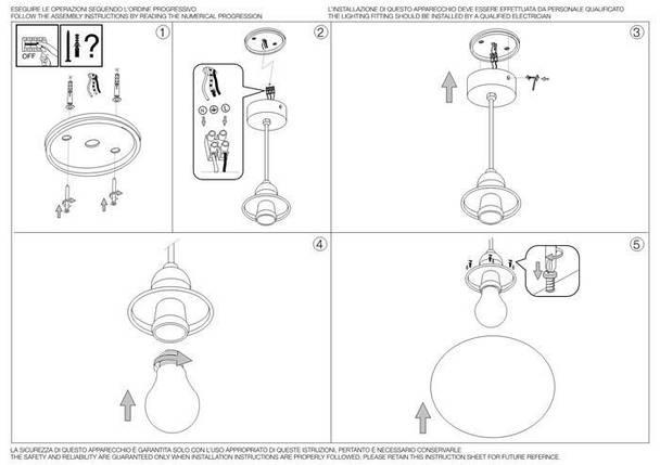Подвесной светильник Ideal Lux Sole SP1 Medium (136004), фото 2