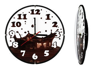 Часы настенные Montre Горячий шоколад 24х24х4 см Стекло Тихий ход 21605, КОД: 1334066