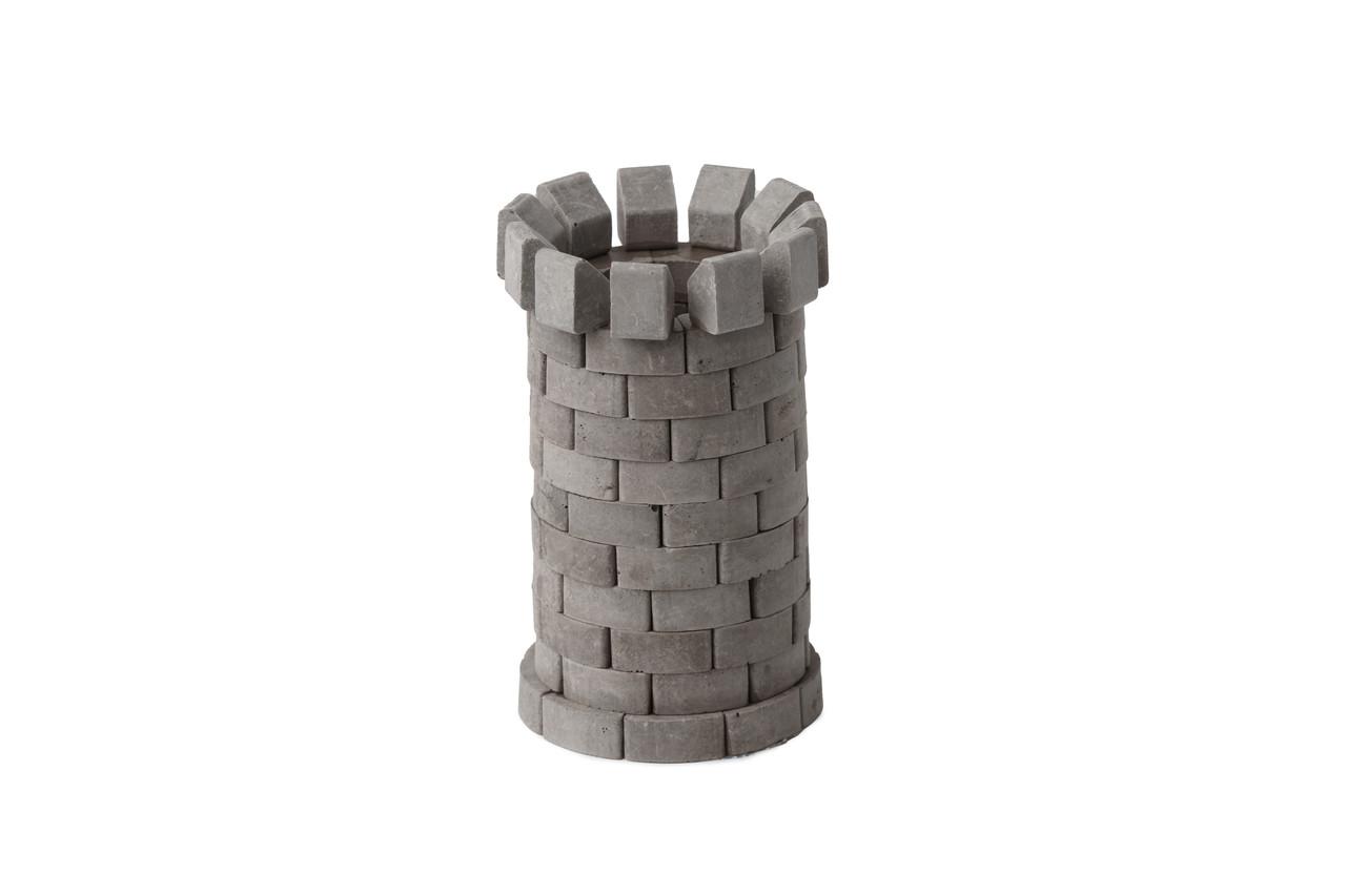 Башня круглая серая    Конструктор из мини-кирпичиков   90 деталей   Країна замків та фортець