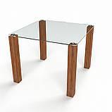 Стол кухонный стеклянный Квадратный прозрачный. Цвет и размер можно изменять. Есть фотопечать и матировка., фото 4