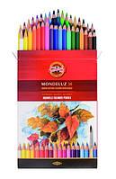 Карандаши цветные 3719  Mondeluz Акварель 36 цветов KOH-I-NOOR