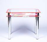 Стол кухонный стеклянный Рамка фотопечать. Цвет и размер можно изменять. Есть фотопечать и матировка., фото 4