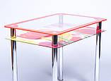 Стол кухонный стеклянный Рамка фотопечать. Цвет и размер можно изменять. Есть фотопечать и матировка., фото 5