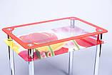 Стол кухонный стеклянный Рамка фотопечать. Цвет и размер можно изменять. Есть фотопечать и матировка., фото 6