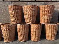 Плетений мусорник из лозы. (плетеные урны)