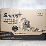 Сварочный полуавтомат 2в1 SIRIUS MIG/MMA-250 под флюсовую проволоку, фото 8