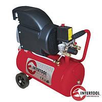 Компрессор Intertool PT-0010, 24л, 2HP, 1.5кВт, 220В, 8атм, 206л/мин