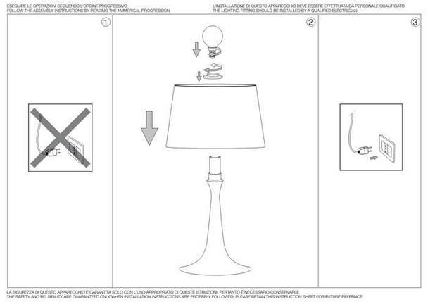 Настольная лампа Ideal Lux London TL1 Small Bianco (110530), фото 2