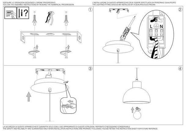 Подвесной светильник Ideal Lux Oil 5 SP1 Cemento (129082), фото 2