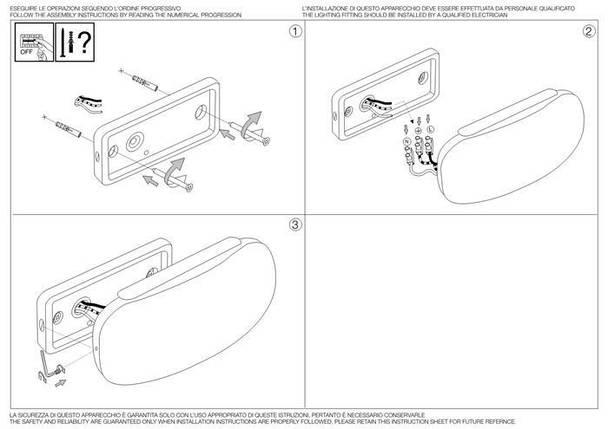 Настенный светильник Ideal Lux Tea AP30 Bianco (142340), фото 2