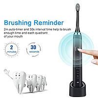 Звуковая электрическая зубная щетка Sarmocare S600 Sonic Electric Toothbrush Black, фото 4