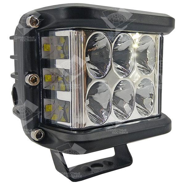 60W / 60 (12 x 5W / широкий луч, прямоугольный корпус) 4300 LM LED фара рабочая 60W, 12 ламп, 10-30V, 6000K