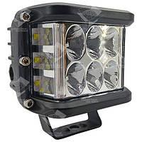 60W / 60 (12 x 5W / широкий луч, прямоугольный корпус) 4300 LM LED фара рабочая 60W, 12 ламп, 10-30V, 6000K, фото 1