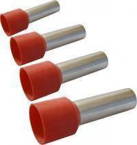 Кабельный наконечник трубчатый изолированный под кабель Ø 0.5мм, длина трубки 8мм, 100шт/уп
