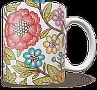 Чашка, Кружка Красные Цветы (растения, цветы, флора, узоры), фото 2