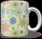 Чашка, Кружка Нежные Цветы (растения, цветы, флора, узоры), фото 2