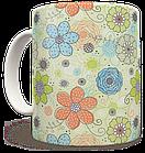 Чашка, Кружка Нежные Цветы (растения, цветы, флора, узоры), фото 3