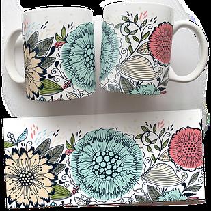 Чашка, Кружка Просто Цветы (растения, цветы, флора, узоры)
