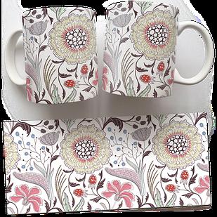 Чашка, Кружка Опять Просто Цветы (растения, цветы, флора, узоры)