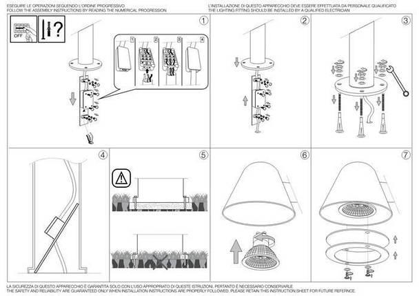 Парковый светильник Ideal Lux Gas PT1 Antracite (139470), фото 2