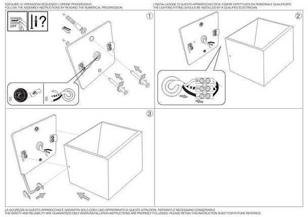 Настенный светильник Ideal Lux Rubik AP1 Antracite (149738), фото 2