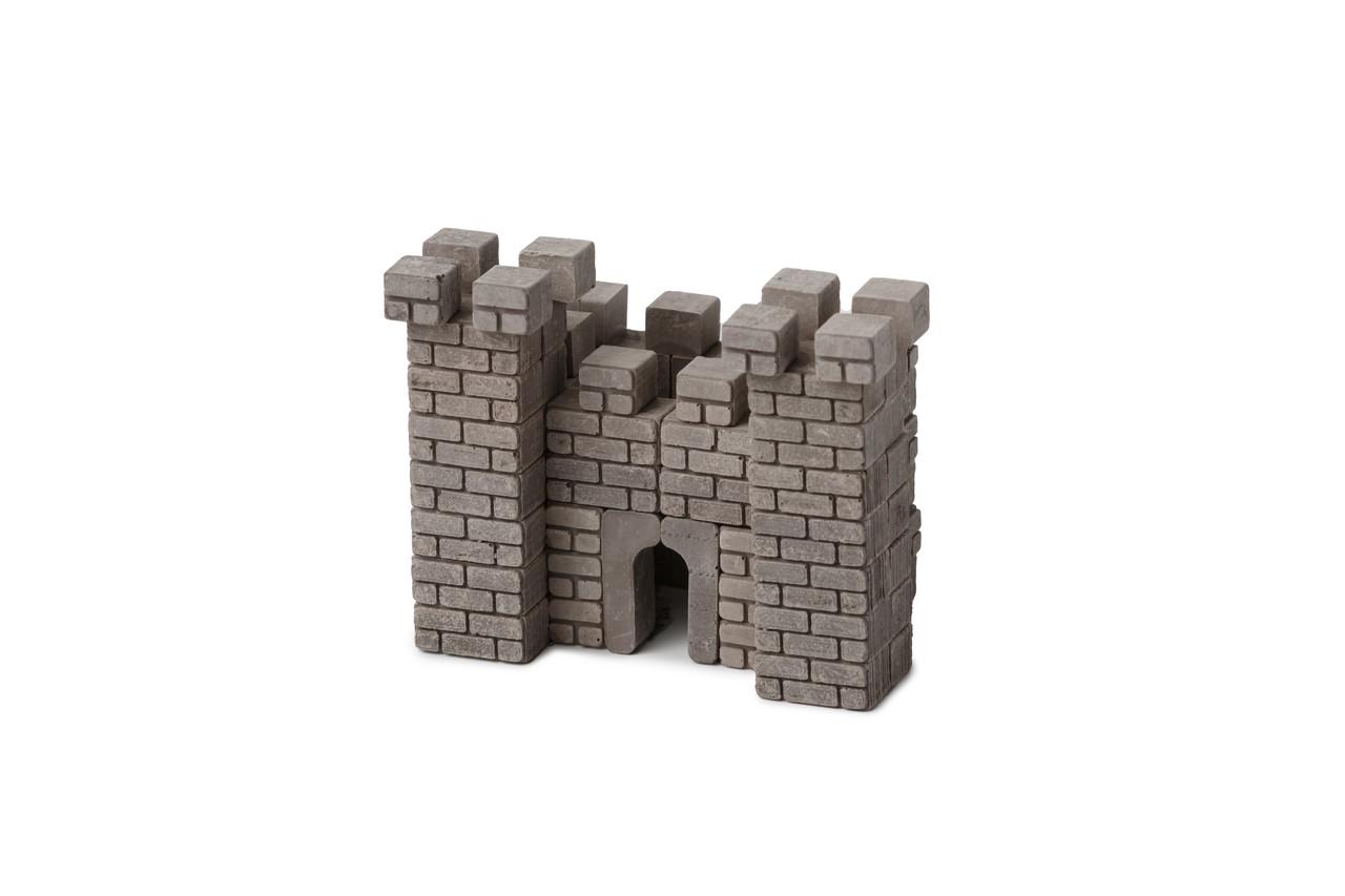 Замок серый | Конструктор из мини-кирпичиков | 85 деталей | Країна замків та фортець (Україна)