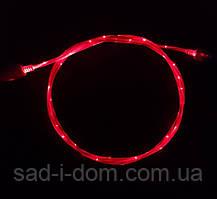 Светящийся кабель синхронизации шнур для зарядки телефона HLV USB – microUSB 1 м Red