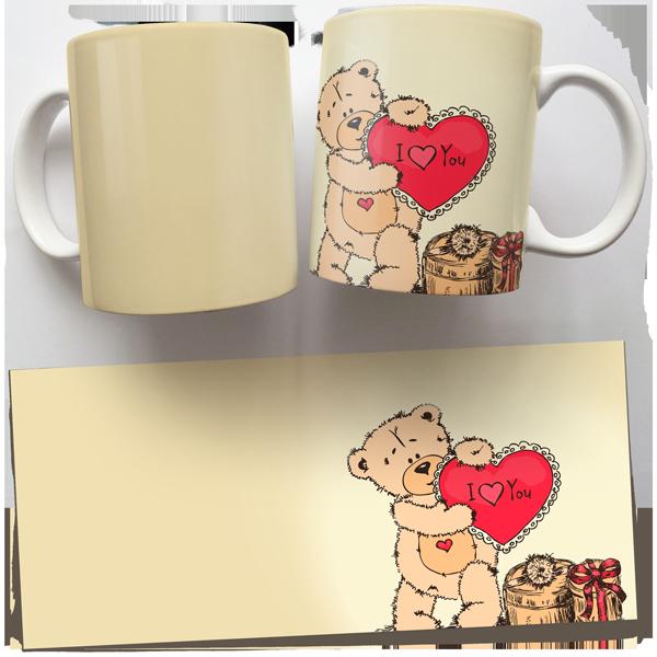Чашка, Кружка Тедди, I Love You