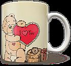 Чашка, Кружка Тедди, I Love You, фото 2