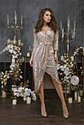 Женское платье пайетка на трикотажной основе черный золото серебро 42 44 46, фото 3