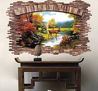 Декоративная  наклейка природа 3D  (85х56см)