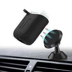 Чехол BeWatch силиконовый магнитное крепление для Apple AirPods Черный 5020101, КОД: 1176905