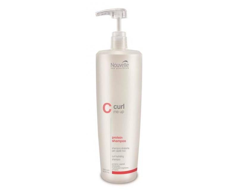 Шaмпyнь пpoтeинoвый питaющий для пoвpeждeнныx вoлoc Nouvelle Curl Me Up Protein Shampoo, 1000 мл