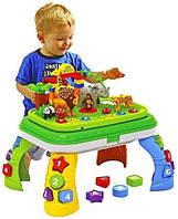 Развивающая игрушка столик - конструктор и зоопарк, с различными эффектами JDLT 5322