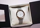 Женские наручные часы Geneva, серебро с белым циферблатом, фото 2
