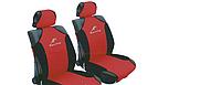 Майка сидения передняя красно-черная (2шт) полиэстер Racing 23088/7/Р