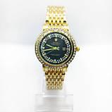 Женские наручные часы Rolex (Ролекс), золото с черным циферблатом, фото 2