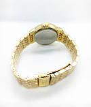 Женские наручные часы Rolex (Ролекс), золото с черным циферблатом, фото 4