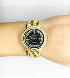 Женские наручные часы Rolex (Ролекс), золото с черным циферблатом, фото 5