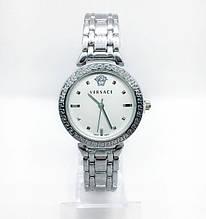 Женские наручные часы Versace (Версаче), серебро с белым циферблатом