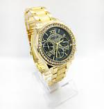 Женские наручные часы Guess (Гесс), золото с черным циферблатом, фото 2