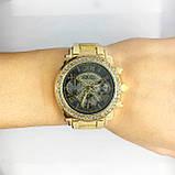 Женские наручные часы Guess (Гесс), золото с черным циферблатом, фото 5